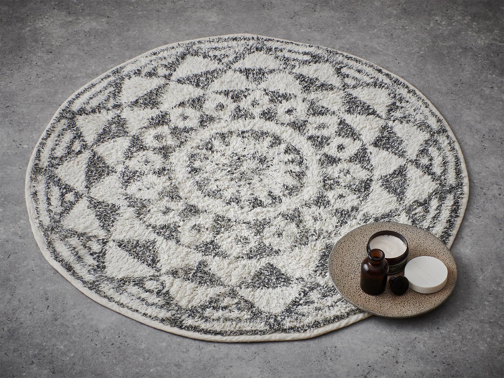 Badmat round bath mat 120cm-4
