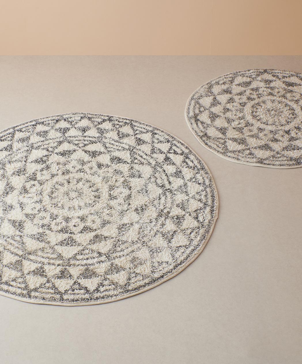 Badmat round bath mat 120cm-5