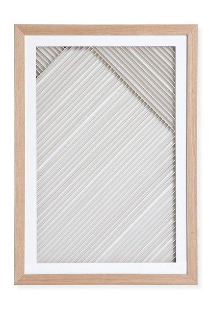 Wandschilderij layered paper art frame B