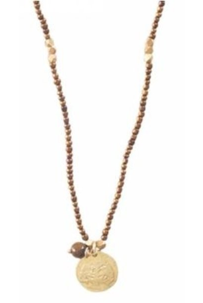 Ketting Truly Tiger Eye Tree Gold