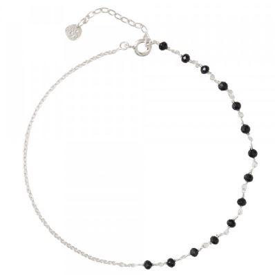 Enkelbandje Shimmer Zwarte Onyx Sterling Zilver-1