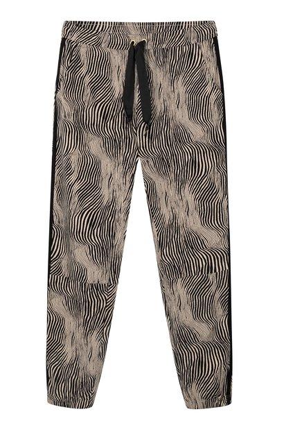Broek cropped jogger zebra safari