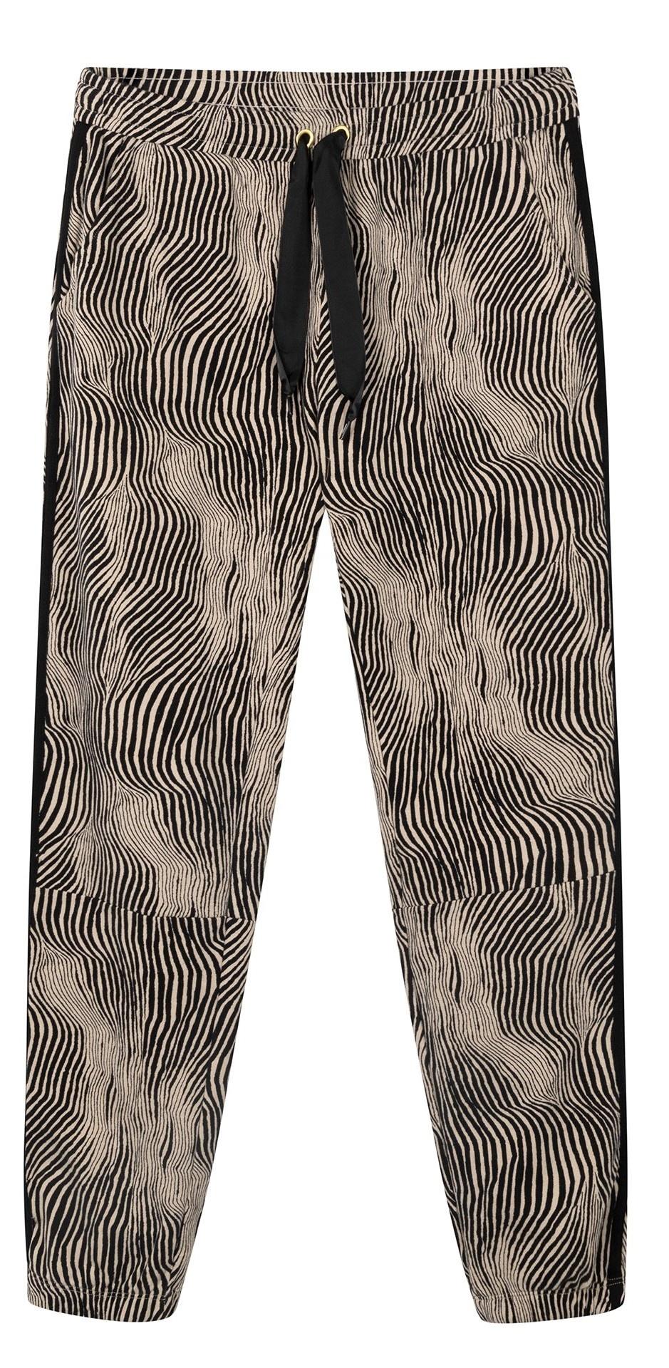Broek cropped jogger zebra safari-1
