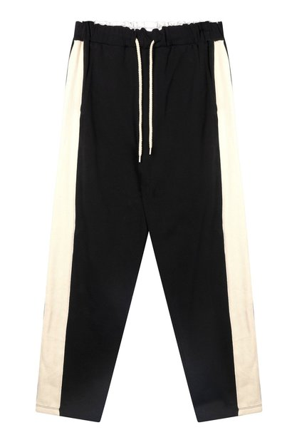 Broek straight pants smoking black