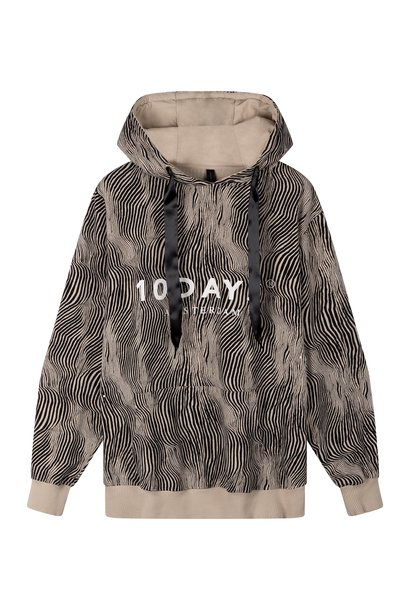 Trui hoodie zebra safari