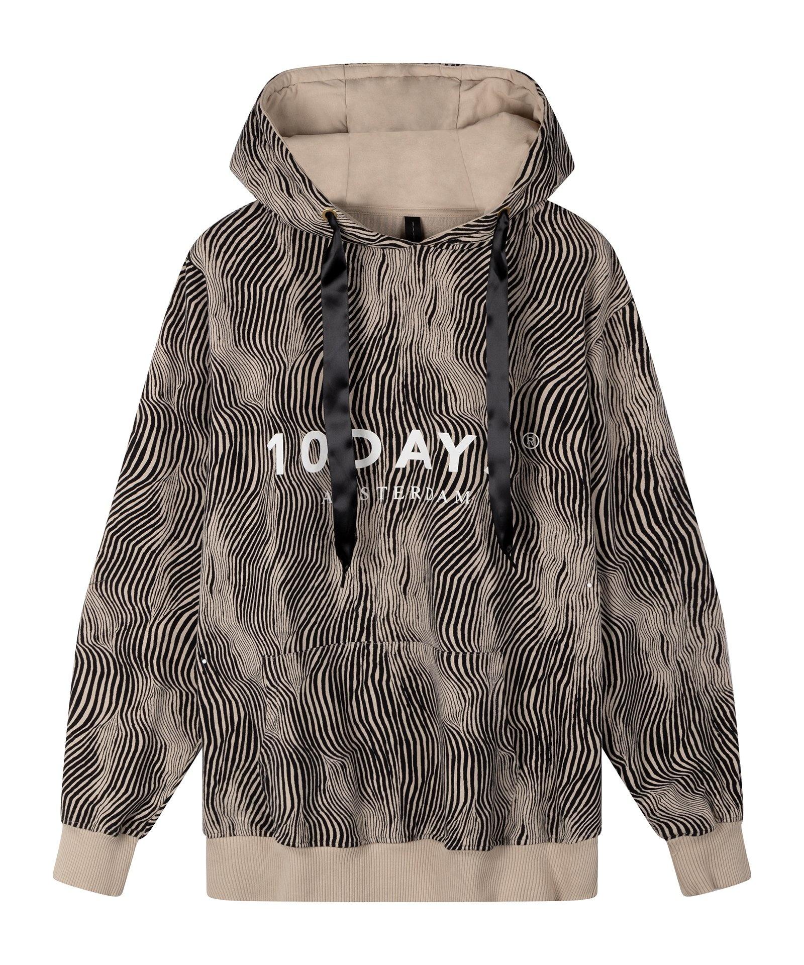 Trui hoodie zebra safari-1