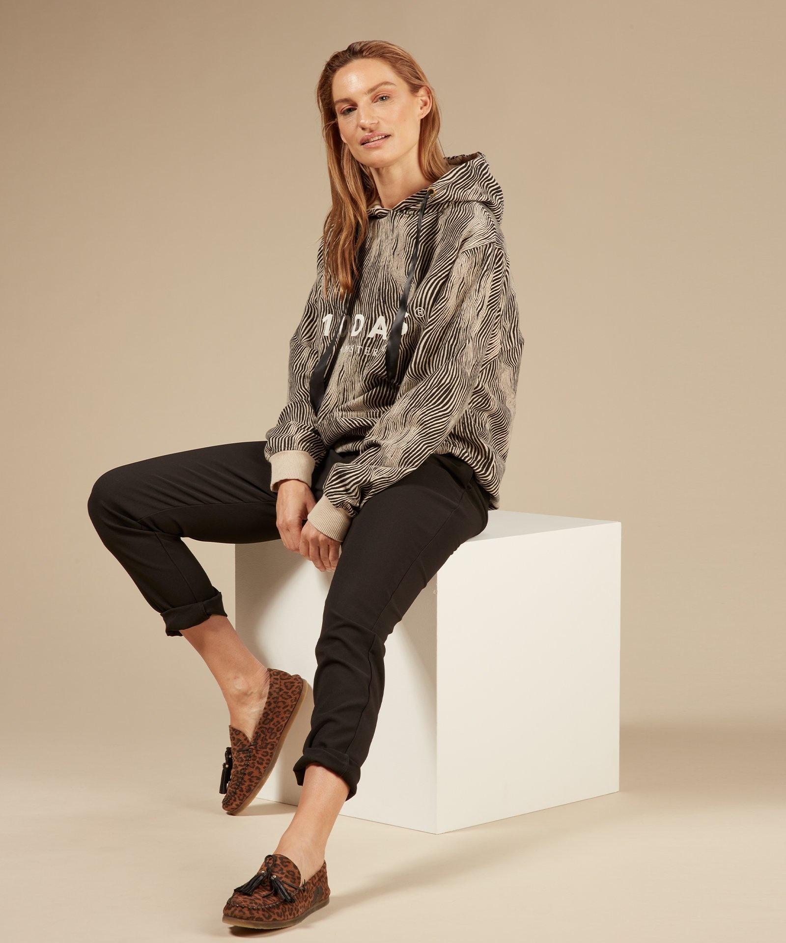 Trui hoodie zebra safari-5