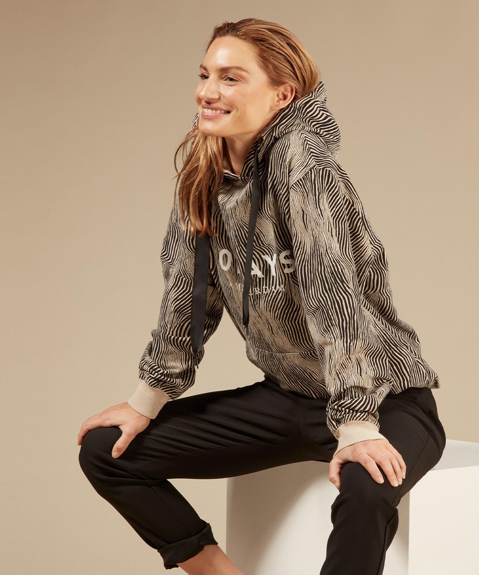 Trui hoodie zebra safari-3