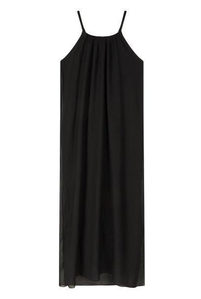 Jurk strappy dress layers black