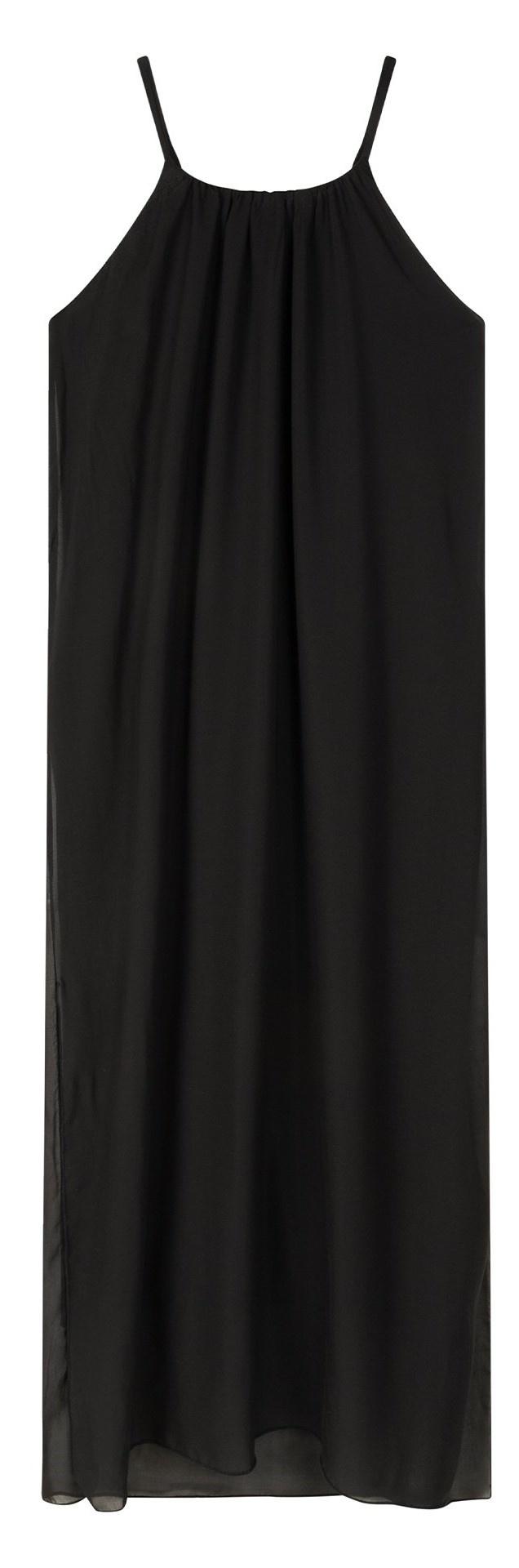 Jurk strappy dress layers black-1