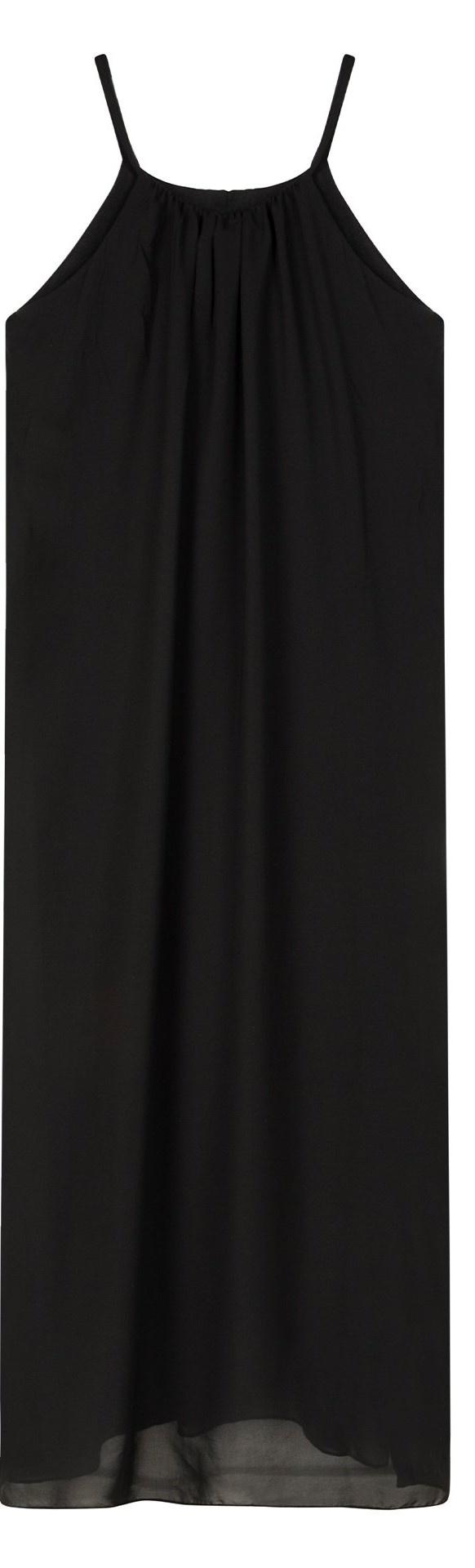 Jurk strappy dress layers black-3