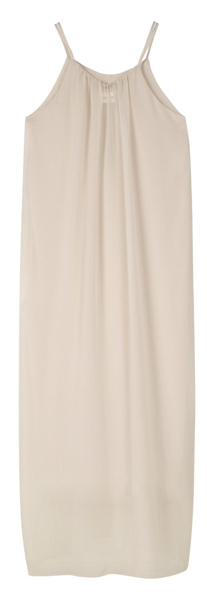 Jurk strappy dress layers light safari-3