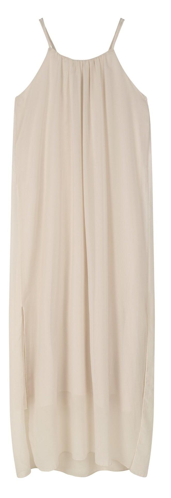Jurk strappy dress layers light safari-1