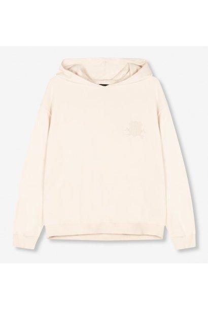 Trui knitted oversized hoodie powder white