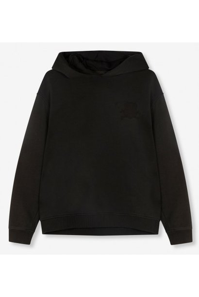 Trui knitted oversized hoodie black