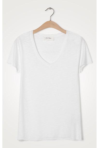 T-shirt Jacksonville V-hals Blanc