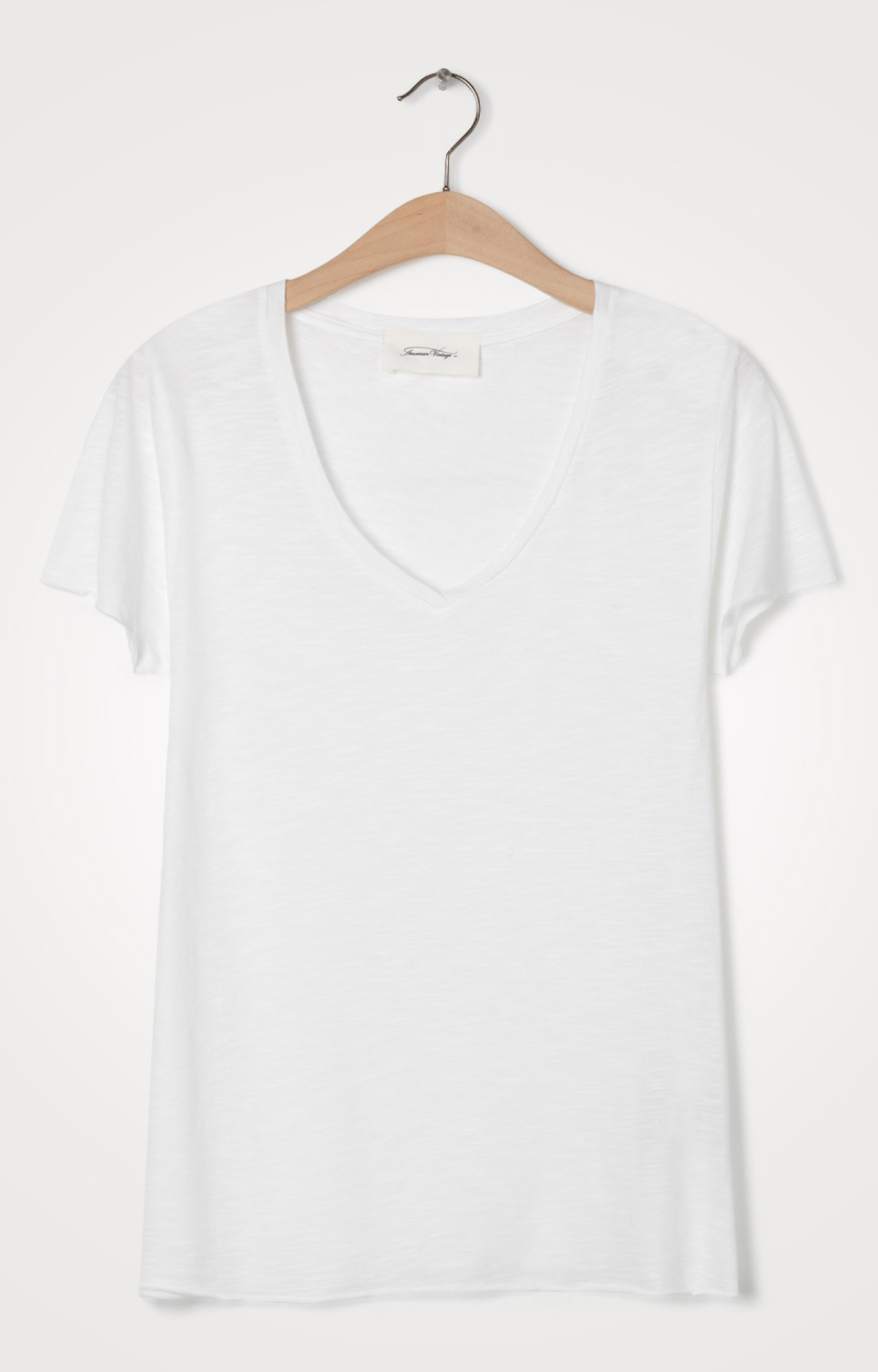 T-shirt Jacksonville V-hals Blanc-2