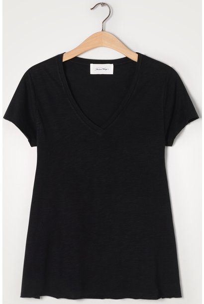 T-shirt Jacksonville V-hals Noir