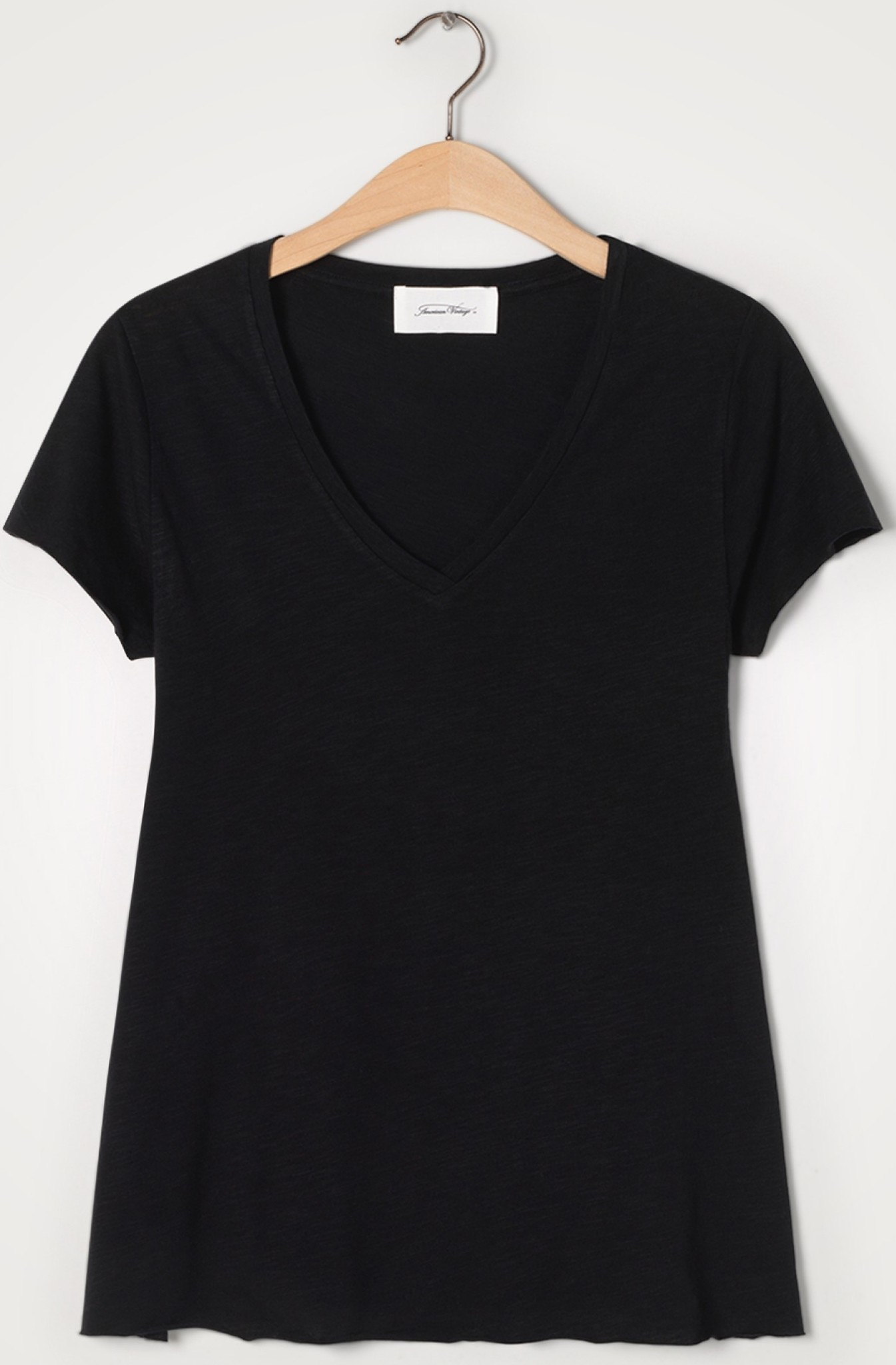 T-shirt Jacksonville V-hals Noir-1