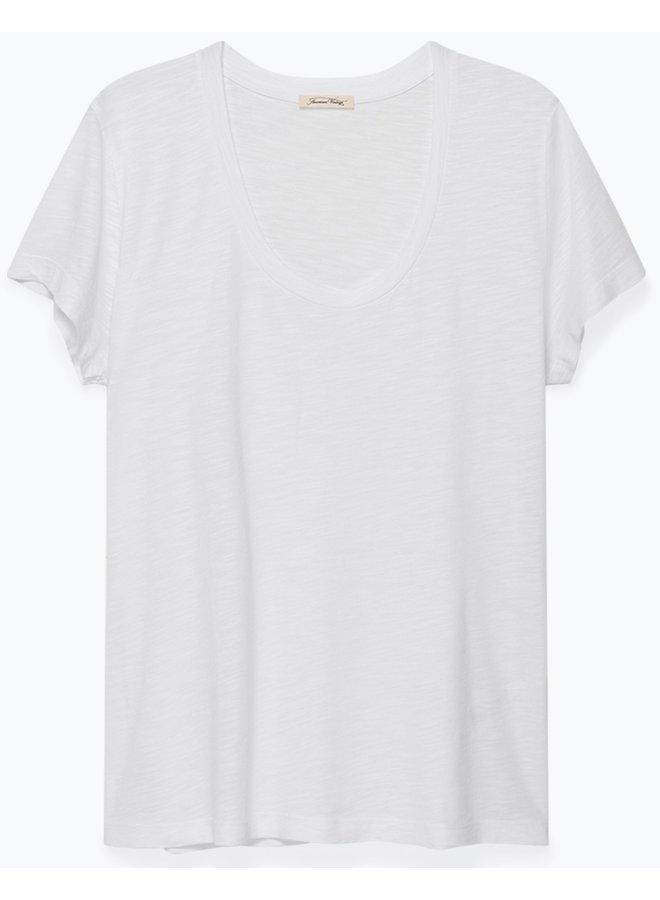 T-shirt Jacksonville Round Blanc