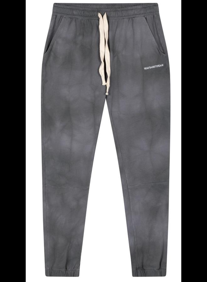 Broek cropped jogger tie dye grey