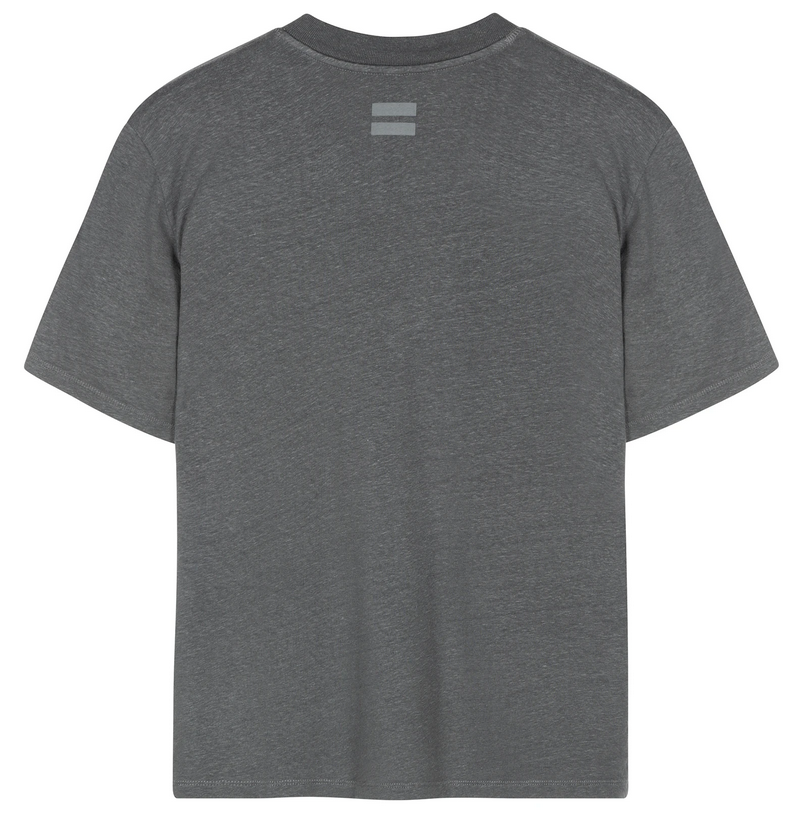 T-shirt Low v-neck tee linnen grey-3