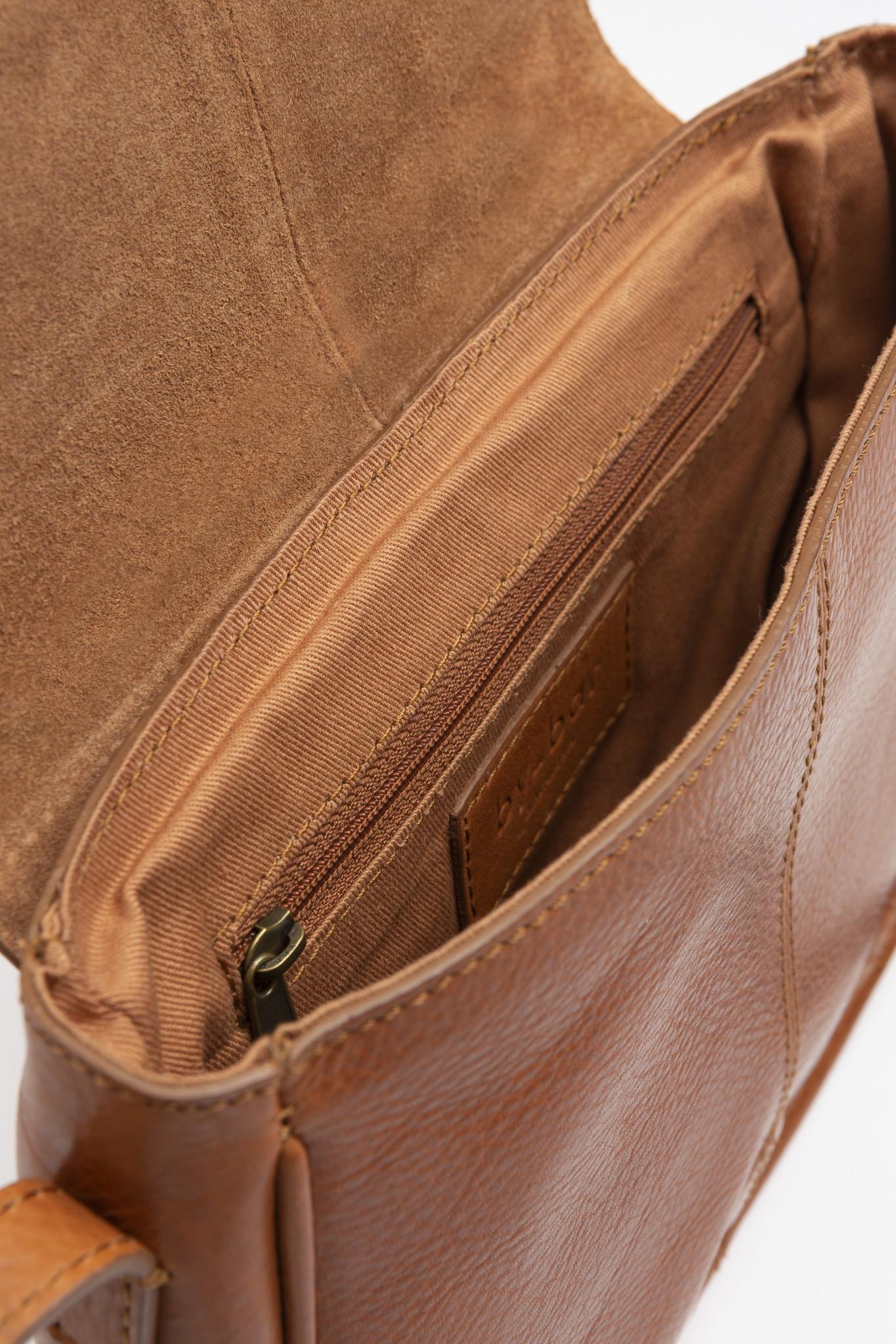Tas Paris leather cognac-3