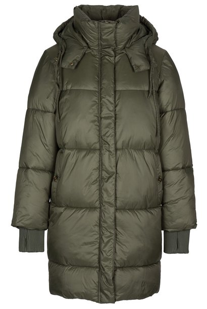 Jas jackie long coat - forest night