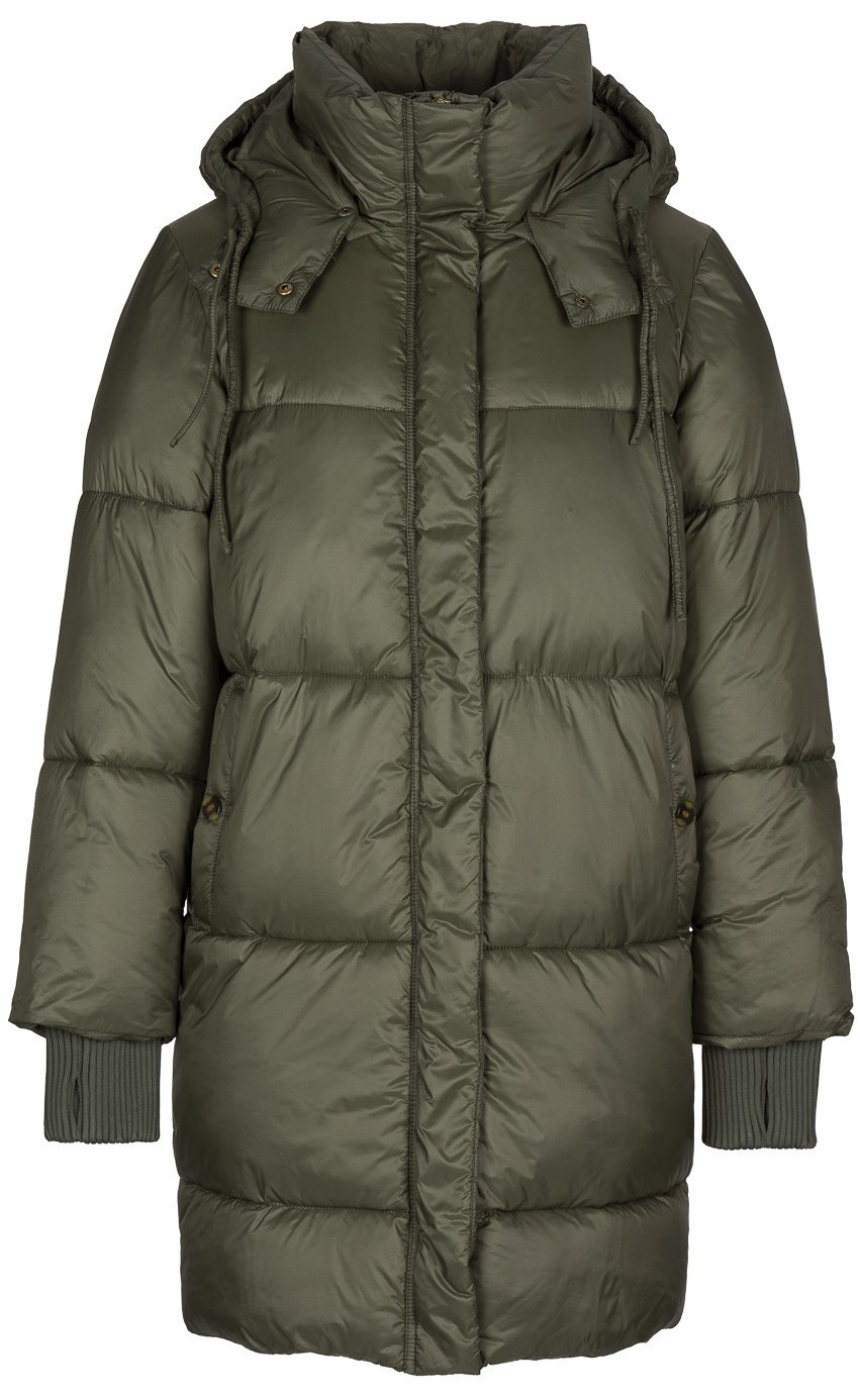 Jas jackie long coat - forest night-1