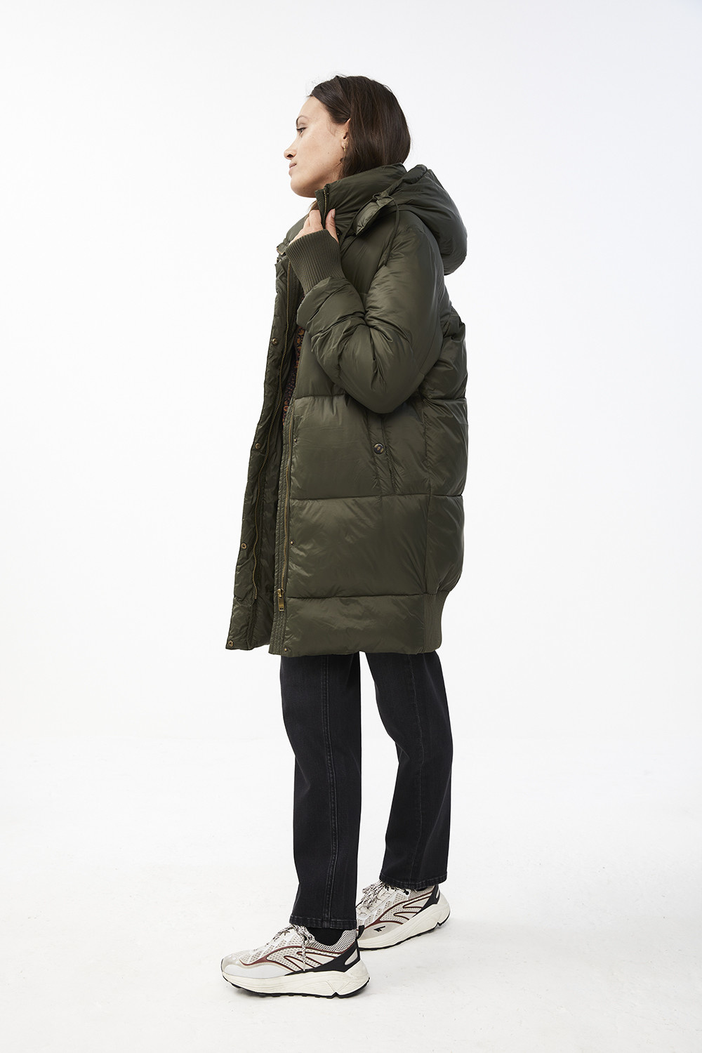 Jas jackie long coat - forest night-4