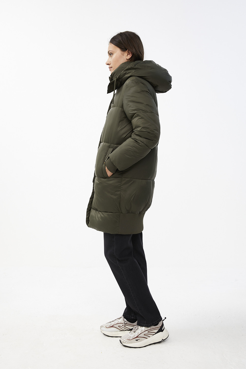 Jas jackie long coat - forest night-5