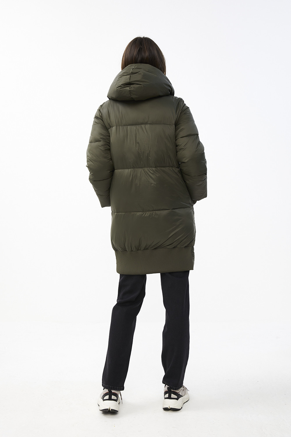 Jas jackie long coat - forest night-6