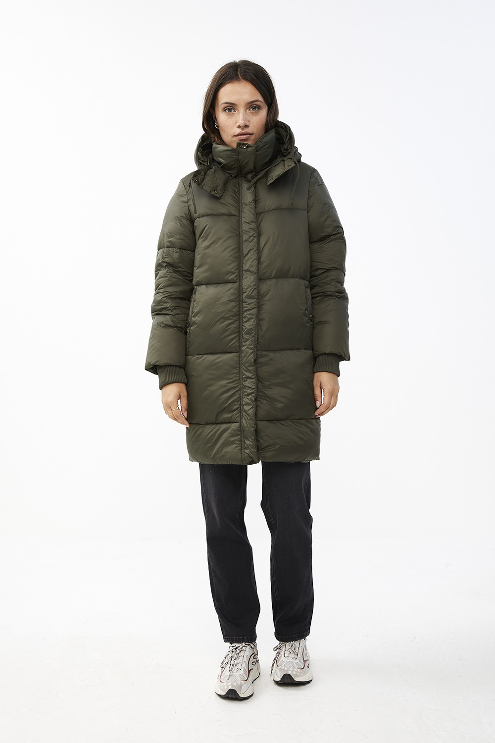 Jas jackie long coat - forest night-2