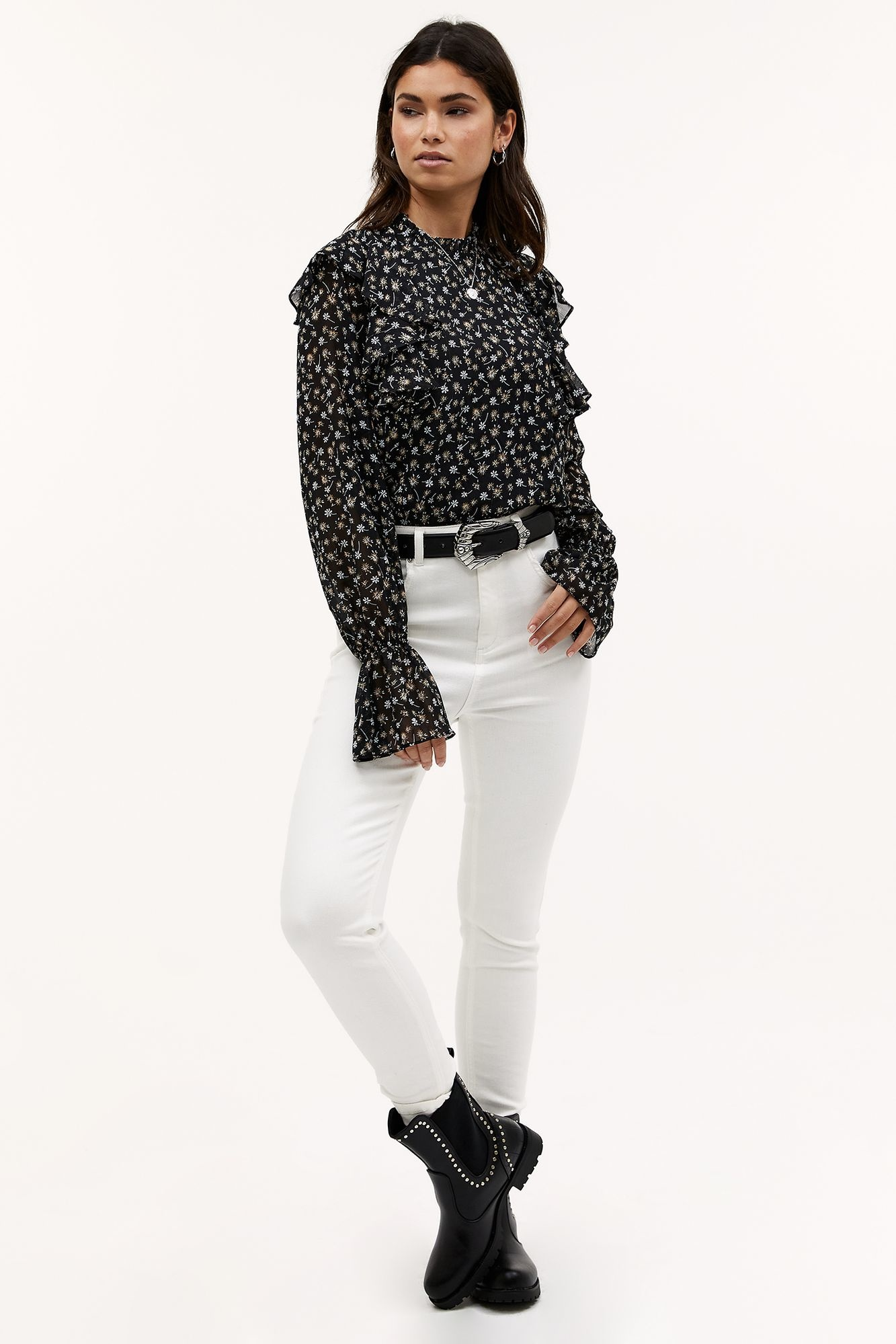 Blouse Day in town Black-1
