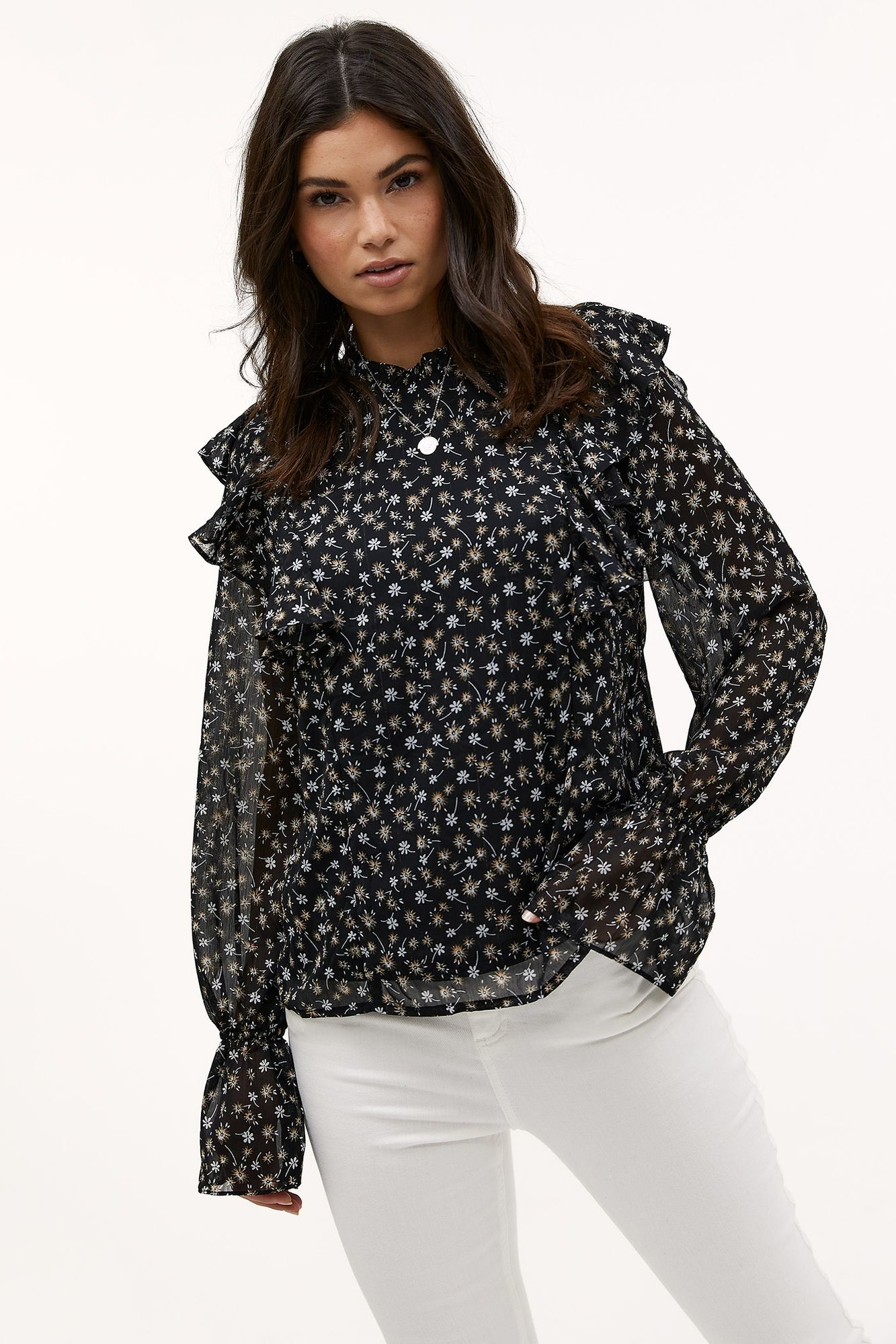 Blouse Day in town Black-3