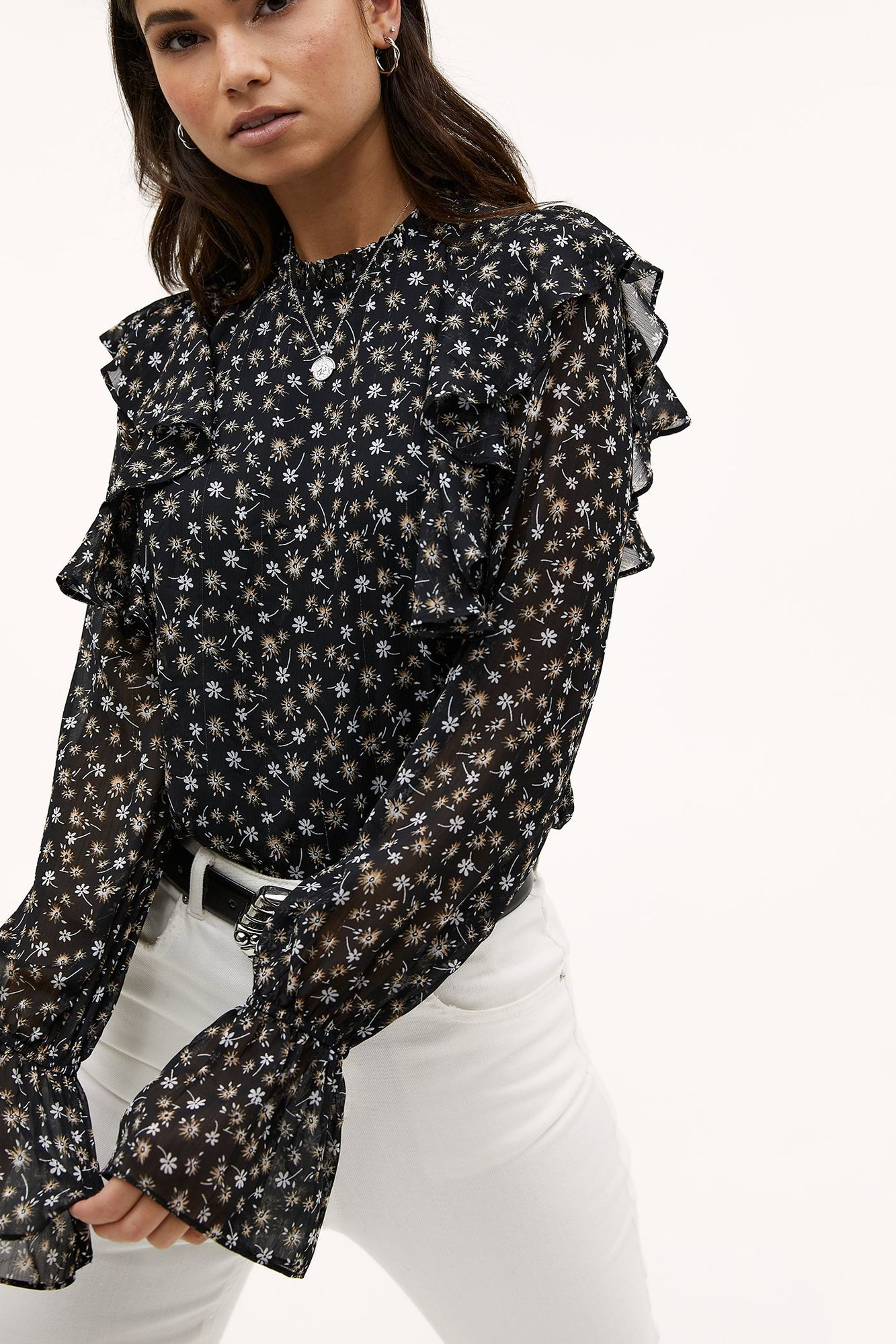 Blouse Day in town Black-4