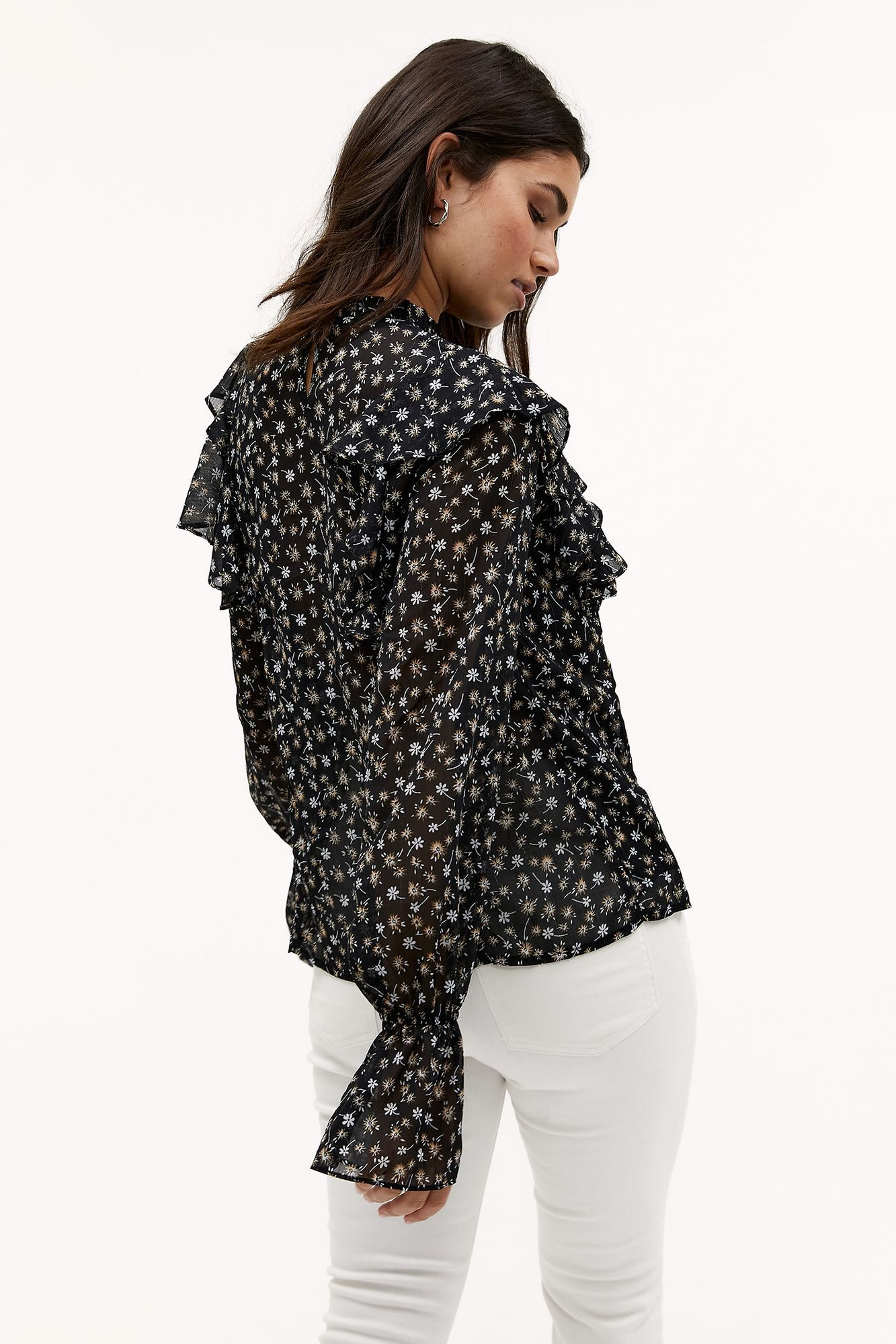 Blouse Day in town Black-2