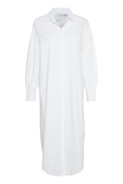 Jurk ElinLN Long Shirt snow White