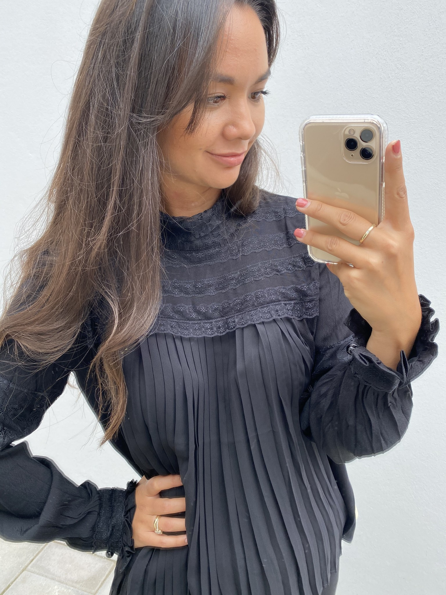 Blouse MillaCR Blouse Pitch Black-2
