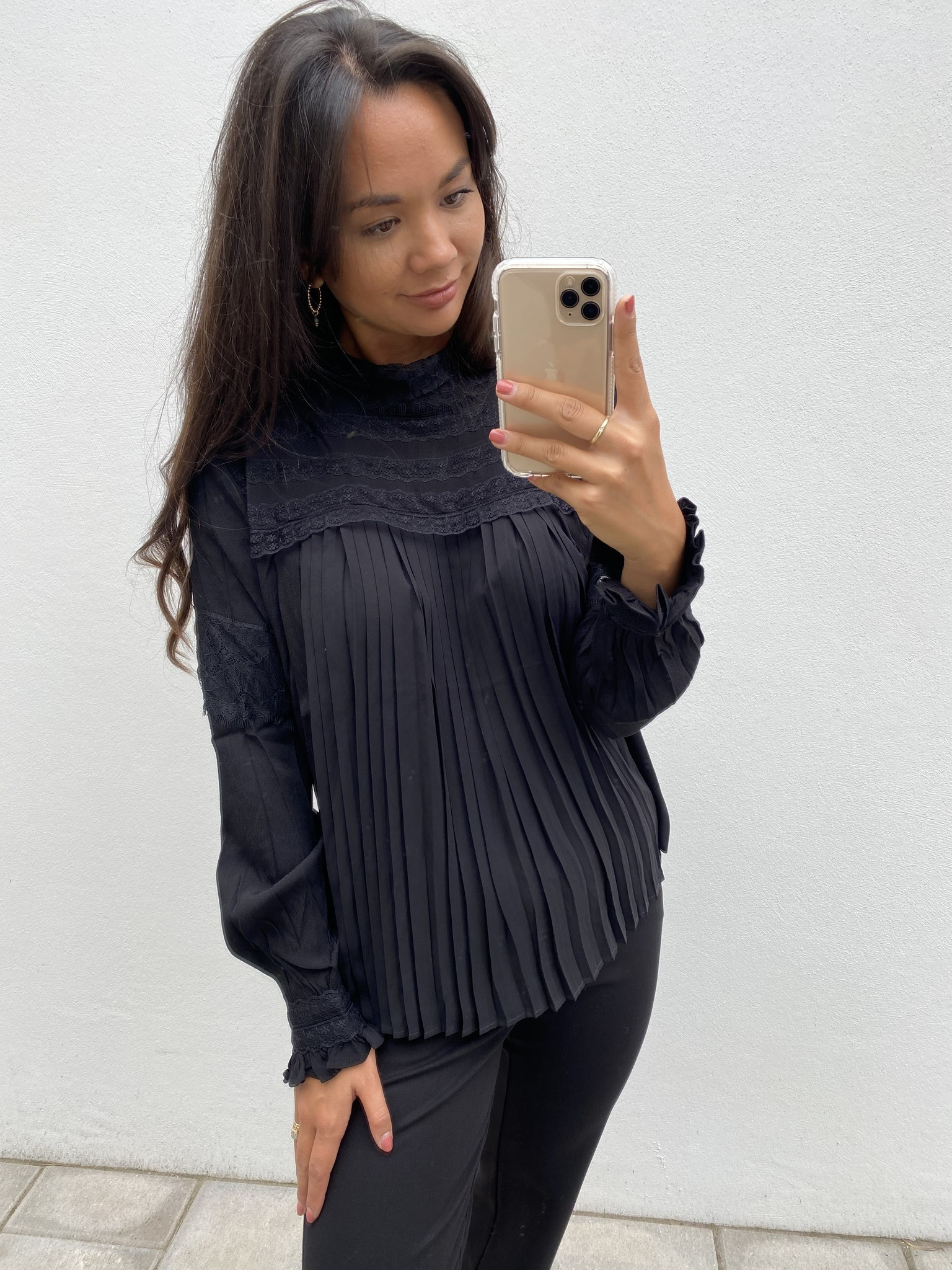 Blouse MillaCR Blouse Pitch Black-3