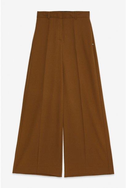 Broek Pantalone caramello elastaan wijde pijp