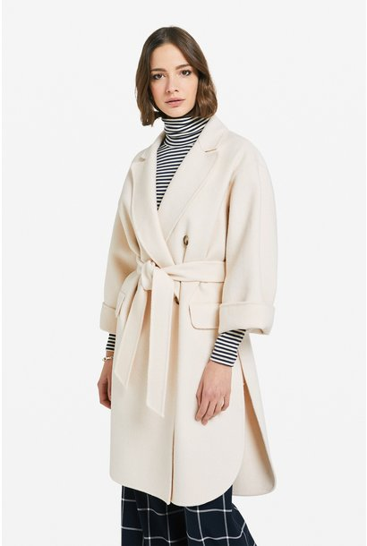 Jas Giacca ecru  ceintuur wool