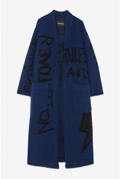 Jas Giacca wool blu numbers