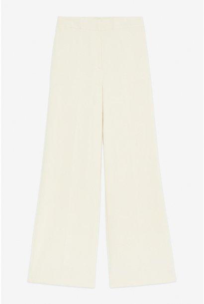 Broek Pantalone viscose elastaan vaniglia