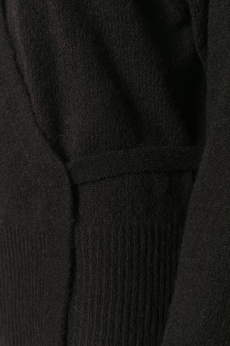 Vest overslag Kawendy black deep-2