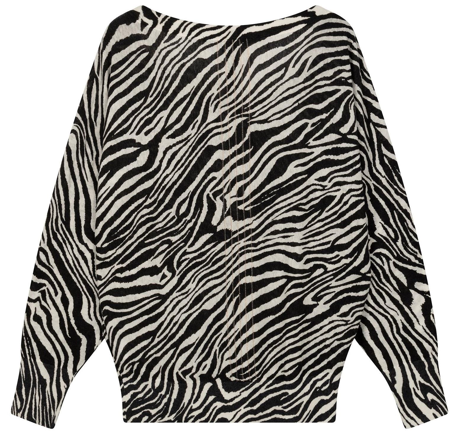 Trui thin zebra white-2