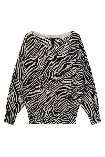 Trui thin zebra white