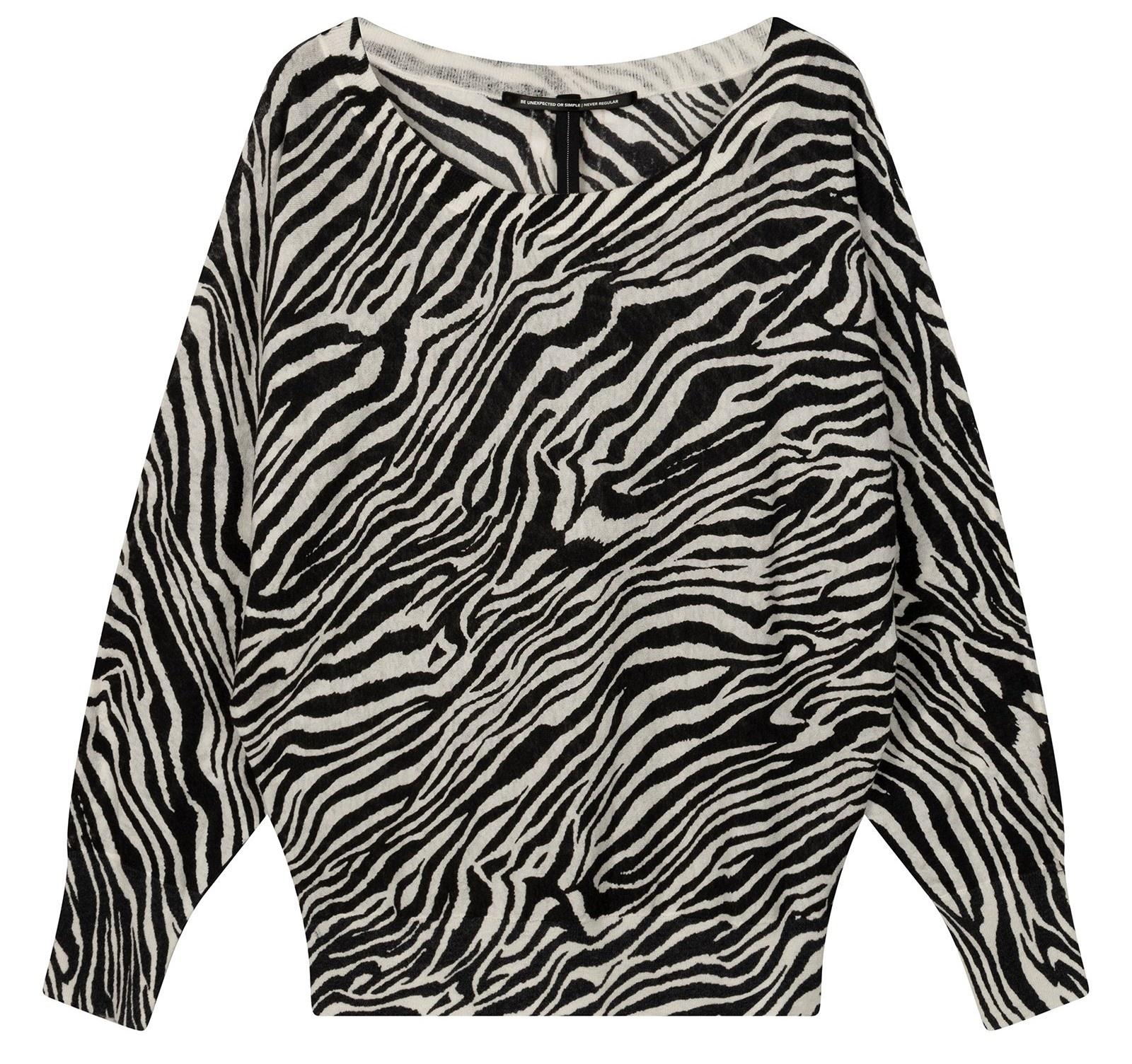 Trui thin zebra white-1