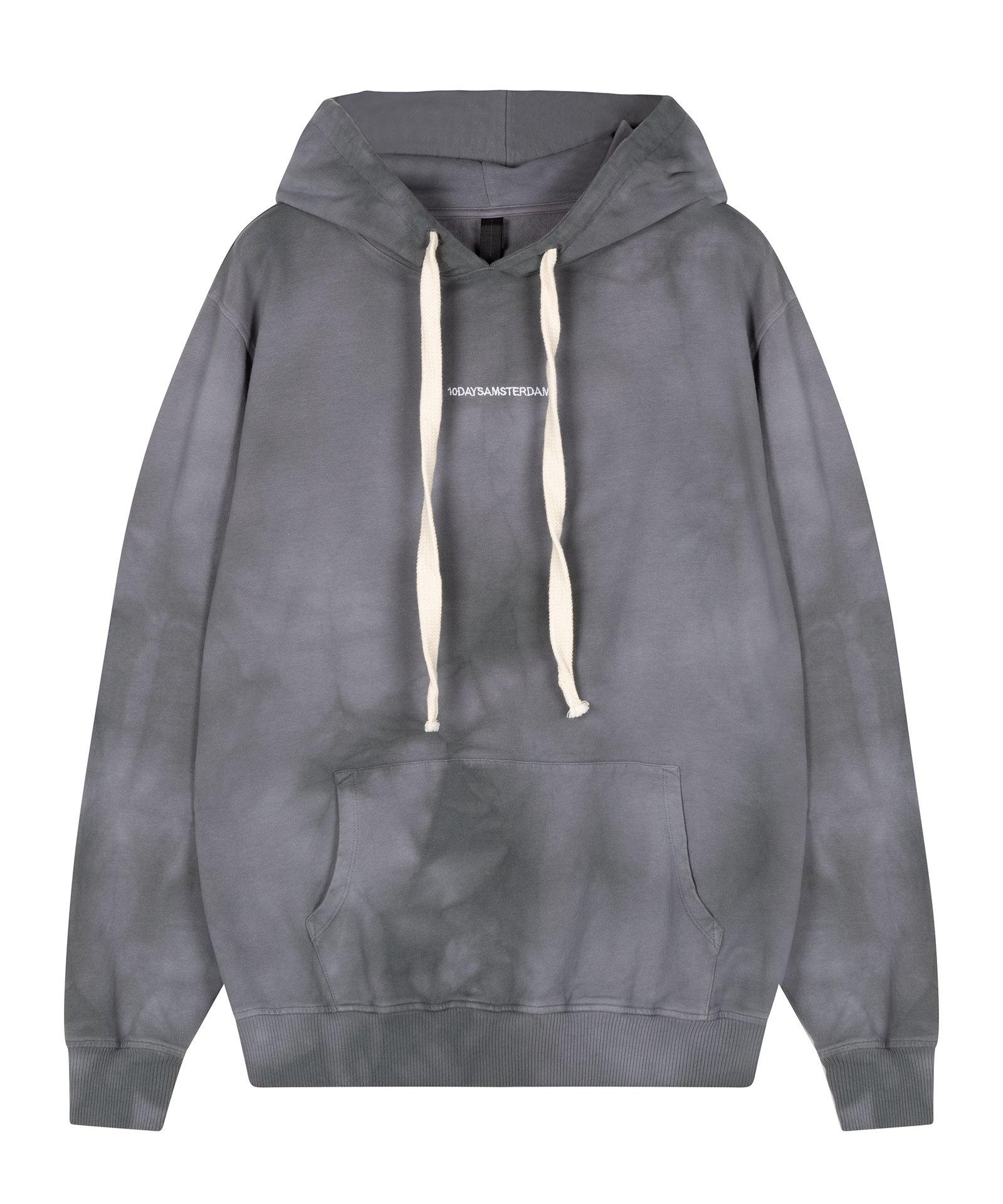 Trui Hoodie tie dye grey-1