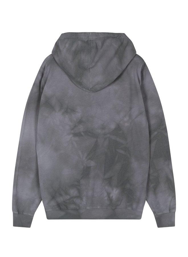 Trui Hoodie tie dye grey